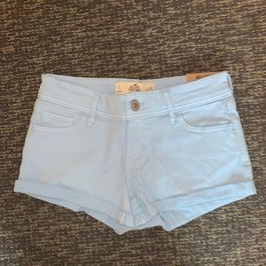 Hollister light blue jean shorts